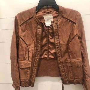Anthropologie Hei Hei Vegan Leather Jacket